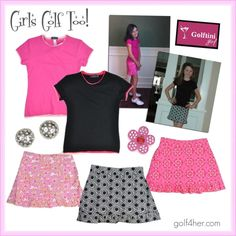 Golftini Girl junior golf collection featuring #golf T-shirts and ruffle bottom skorts. So cute!    http://www.golf4her.com/Golftini-Girl-s/3127.htm