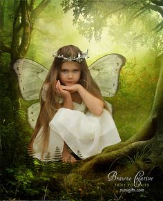 Beautiful little fairy watching in the forest, via Flickr
