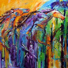 Always on the Run painting by Laurie Pace @lauriepace #art #horse