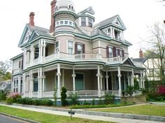 This here is my home! A fabulous Victorian Mansion, with touches of everyday color, to the building design and layout itself!