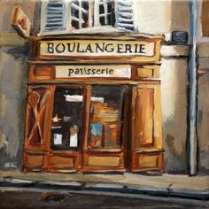 "Daily Paintworks - ""1175 Boulangerie"" - Original Fine Art for Sale - © Dietmar Stiller"