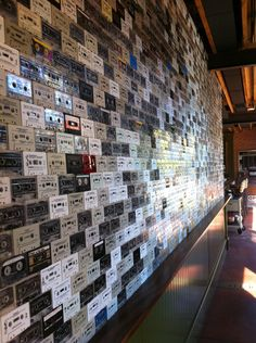 Cassette wall at the Windsor in uptown Phoenix.