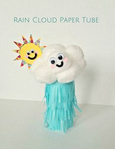 Make this cute rain cloud paper tube craft to welcome in spring!