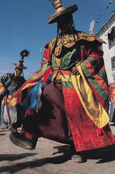 Local ceremony. Mustang, Nepal. National Geographic November 1997 Robert Caputo.