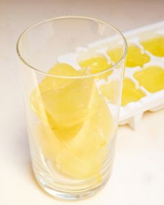 Lemon Ice Cubes- for those who prefer lemon with their tea. ;p