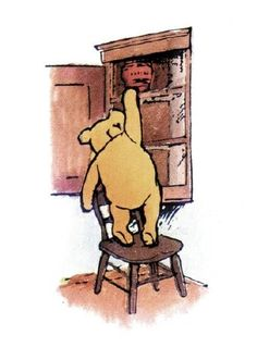 """Well,"" said Pooh, ""what I like best,"" and then he had to stop and think. Because although Eating Honey was a very good thing to do, there was a moment just before you began to eat it which was better than when you were, but he didn't know what it was called.""  Pooh <3"