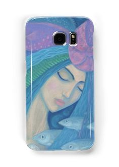 """""""The Pearl, Mermaid Princess, underwater fantasy art"""" Samsung Galaxy Cases & Skins by clipsocallipso 
