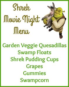 Shrek Movie Night Party Ideas Shrek Movie Night Party Ideas You can find Shrek and more on our website. Movie Night Party, Movie Night For Kids, Dinner And A Movie, Family Movie Night, Movie Nights, Night Kids, Shrek, Kid Movies, Family Movies