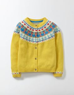Mini Boden Fair Isle Cardigan (Toddler Girls, Little Girls & Big Girls) Mini Boden, Boden Kids, Girls Sweaters, Kids Wear, Knit Cardigan, Lana, Knitwear, Kids Outfits, Kids Fashion