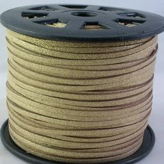 3mm Faux Suede Cord Metallic Gold 10 feet C18 by LindsayStreemDIY, $2.50