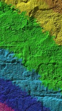 Ściana w różnych kolorach