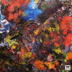 """""""Ayr Waves"""", Acrylic on Canvas 36"""" x 36"""" x 1½"""""""