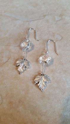 Upcycled 1920s Antique Crystal Drop Earrings by CatsCreationsLLC on Etsy