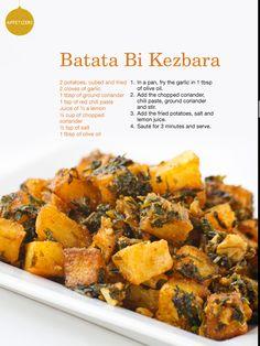 Cilantro + Garlic Roasted Potatoes | Batata Bi Kezbara #middleeasternfood #lebanese #recipe