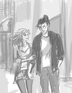 Harry/Ginny in diagon alley by hilly minne art harry potter drawings, harry Harry Potter Ships, Harry Potter Fan Art, Harry Potter Universal, Harry Potter Movies, Harry And Ginny, Harry Potter Drawings, Diagon Alley, Art Poses, Disney Fan Art