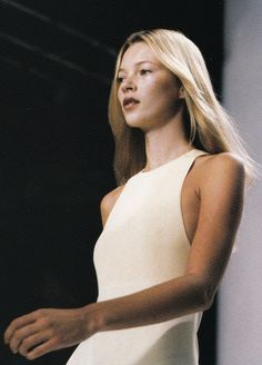 Kate Moss at Calvin Klein Spring/Summer 1996