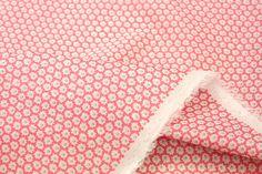 Japonaise rose minuscule fleur de tissu - pelouse de coton-