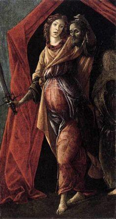 Botticelli, Judith Leaving Tent of Holofernes 1495