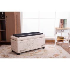 This is the space-saver that you need for your home. It has a beautiful print fabric upholstery, which is definitely an eye-catcher, but you will also have a storage box and a bench to rest on.