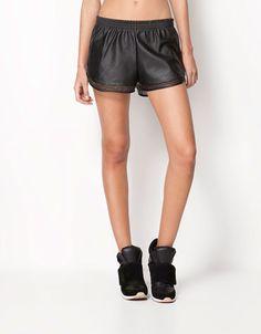 Bershka United Kingdom - Bershka imitation leather shorts