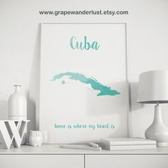 Hey, I found this really awesome Etsy listing at https://www.etsy.com/listing/246591027/cuba-poster-cuba-map-cuban-art-gift-for