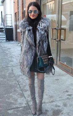 Colete faux fur