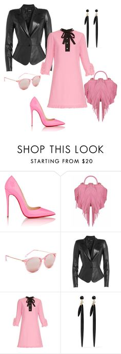 """Quaintrelle Pink Lady"" by bibiantje-m on Polyvore featuring mode, Christian Louboutin, The Volon, Aéropostale, Jitrois, Gucci en Isabel Marant"