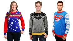Christmas may feel like a world away, but it's really only six weeks out. If you're having trouble getting into the spirit, I know some folks who can help: Batman. And Superman. Oh, and Wonder Woman, while we're at it. These new DC Comics sweaters are the best way to get you into the mood to fight crime and enjoy the holiday season. A trio of Justice League tunic pullovers feature superhero inspired colors, but the designs are as festive as you can get. The colors of the Wonder Woman sweater…