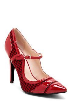 Beauty Heel Celina Patent Fabric Pump by Pinky on @HauteLook
