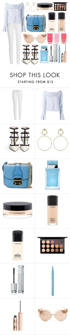 """""""Untitled #465"""" by ngkhhuynstyle ❤ liked on Polyvore featuring Paige Denim, Jacquemus, Maria Francesca Pepe, Miu Miu, Dolce&Gabbana, MAC Cosmetics, Guerlain, Too Faced Cosmetics, Charlotte Tilbury and Linda Farrow"""