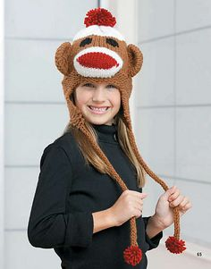 Ravelry: Sock Monkey Earflap Hat pattern by Kathy Norris