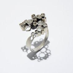 Modern circles sterling silver ring by JRajtar on Etsy