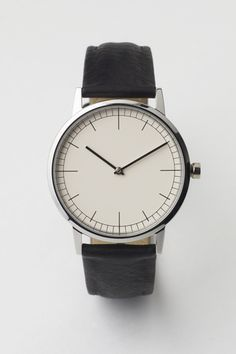 Uniform Wares 152 Series Polished Steel / Black Cashmere Leather Want! Men's Watches, Fashion Watches, Watches For Men, Simple Watches, Dress Watches, Black Watches, Gold Watches, Cheap Watches, Jewelry Watches