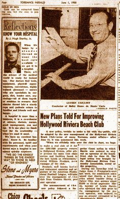 Old article on Hollywood riviera beach club.