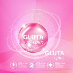 a35684542b43 GLUTA plus modello del manifesto di pubblicità vector 06 #Gluta, #Plus, #