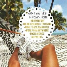 Rodan + Fields is an amazing opportunity. No inventory or parties required. Make your own schedule and be your own boss. Join my team today. Message me.
