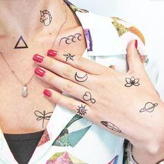 Otros - Peques y molones - 11 tatuajes temporales - hecho a mano por TTTattoo en DaWanda