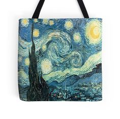 Starry Night Tote Bag - Available Here: http://www.redbubble.com/people/rapplatt/works/8720176-starry-night?p=tote-bag&ref=artist_shop_grid