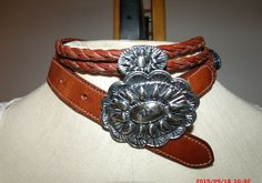 Concho worn as necklace!