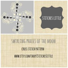 Modern Cross Stitch - Moon Phase Cross Stitch Pattern - PDF Pattern - Instant Download by StitchesLittle on Etsy https://www.etsy.com/listing/230243754/modern-cross-stitch-moon-phase-cross