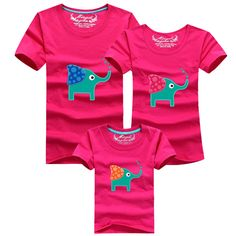1Piece New Family Look Cartoon elephant T Shirts 8 Colors Summer Family Matching Clothes Father & Mother & Kids Cartoon Outfits♦️ SMS - F A S H I O N  http://www.sms.hr/products/1piece-new-family-look-cartoon-elephant-t-shirts-8-colors-summer-family-matching-clothes-father-mother-kids-cartoon-outfits/ US $5.54