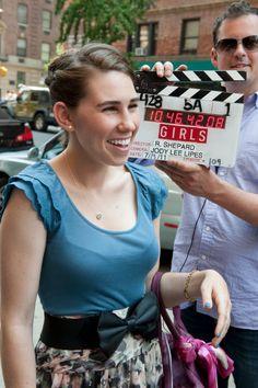 Zosia Mamet filming #GIRLS Season 1 in 2011.