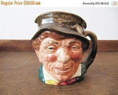 On SALE 10% Off Vintage Royal Doulton Paddy Toby Jug English