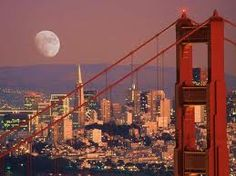 Moon over Golden Gate Bridge- Really hope i will get the chance to be there next year to see this for myself!