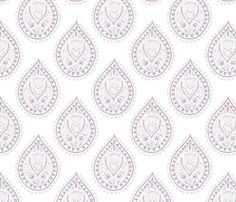 Mumbai in lilac fabric by domesticate on Spoonflower - custom fabric