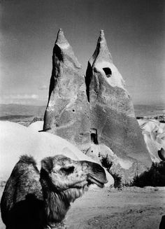 Marc Riboud (French, b. Cave Dwelling, between Urgup and Uchisar Cappadocia, Turkey, 1955 Photograph 24 x 30 cm. Marc Riboud, Henri Cartier Bresson, World Photography, Creative Photography, Landscape Photography, Istanbul, New York Art, French Photographers, Magnum Photos
