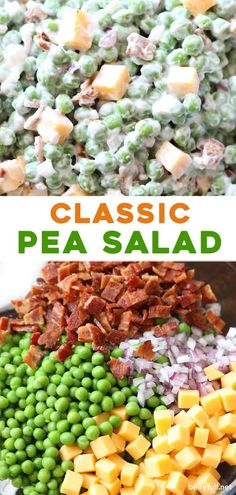 This easy green Pea Salad is an old fashioned classic recipe served cold and enjoyed all year round. Made with bacon, cheddar cheese, red onions, and a sweet dressing, all in one bowl and in only 15… More