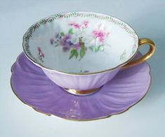 Vintage Lilac Purple Shelley