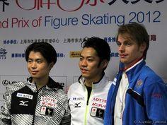With Tatsuki Machida(JAPAN) and Sergei Voronov(Russia) : Cup of China 2012