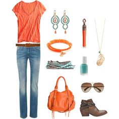 Orange & Turquoise..love these two colors together!